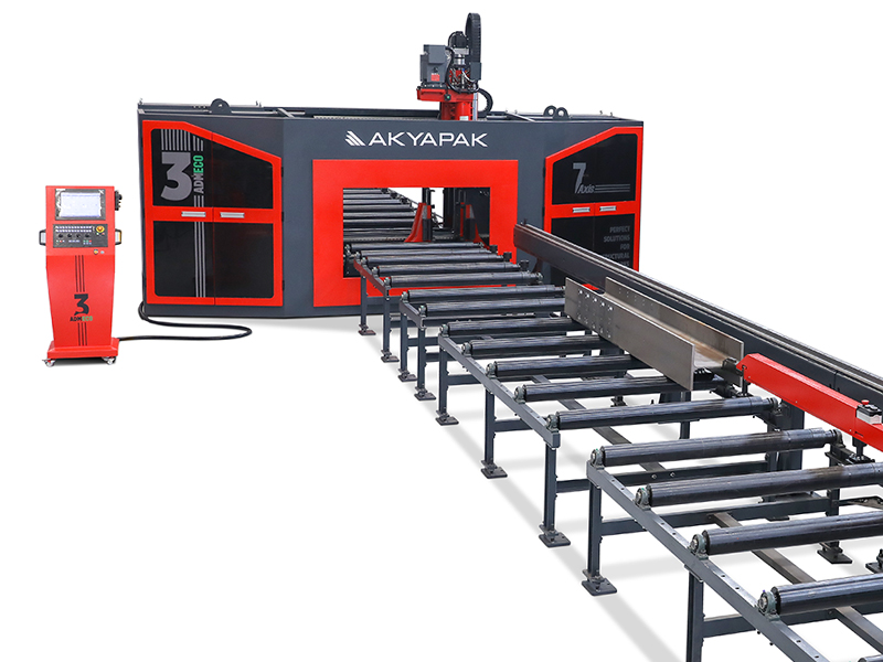 7 Axis Three Spindle CNC Drill Line